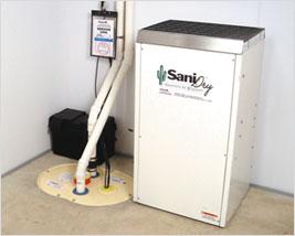 SaniDry<sup>MC</sup> dehumidifier